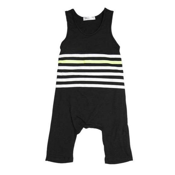 Joah Love Other - !! NWT Black Striped Playsuit by Joah Love